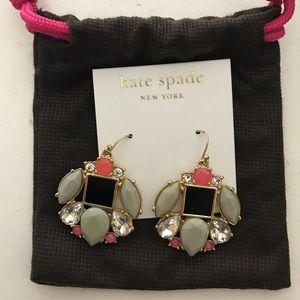 Kate Spade grey and pink drop earrings
